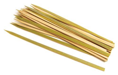 Steven Raichlen SR8080 9mm Wide Bamboo 12-Inch Long Skewers, Set of 25