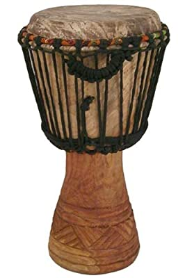 "Hand-carved Djembe Drum From Africa - 9""x 18"" Classic Ghana Djembe"