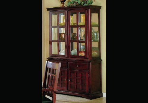 Cheap China Cabinet Cherry Finish Wooden Dining Buffet Hutch (VF_AZ00-45666×28403)