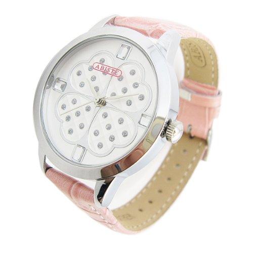 [アビステ]ABISTE クローバーフェイスベルト時計/ピンク 9200505S/P
