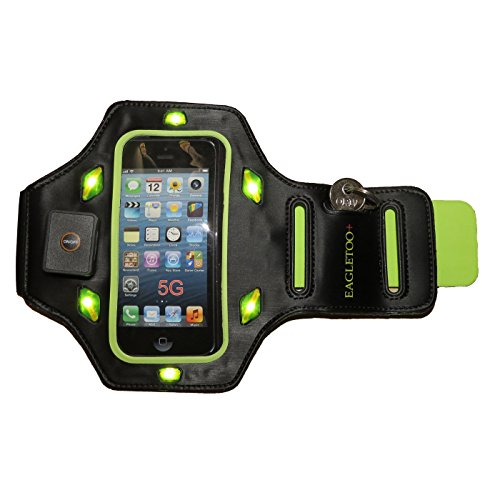 Eagletoo+ Led Iphone 5 Armband Case Is Comprised Of Safe And Soft Neoprene, Which Delivers Comfort And Protects Your Iphone 5 / 5C / 5S Or Ipod Touch From Sweat! Designed To Absorb Low-Impact Hits Commonly Associated With Sports, Running, Workouts And Bik