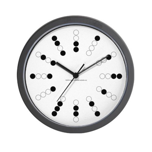 CafePress - Harvey Balls Binary Wall Clock - Unique Decorative 10