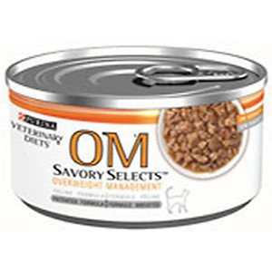Purina Veterinary Diets OM Canned Cat Food, 5.5-oz, case of 24