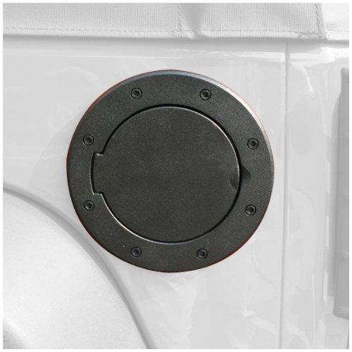 Rugged Ridge 11425.05 Black Aluminum Fuel Door Cover