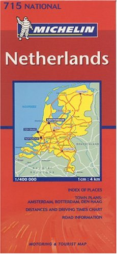 Michelin Netherlands Map (Michelin Maps) (Multilingual Edition)