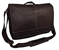 "Kenneth Cole Reaction The ""Risky Business"" Colombian Leather Messenger Bag/Briefcase Brown"