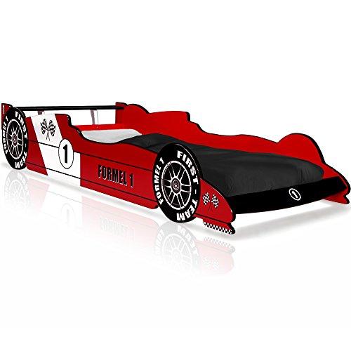 Autobett-F1-Formel-1-Kinderbett-Bett-Schlafzimmer-Kindermbel-Rennbett-Spielbett-Rot