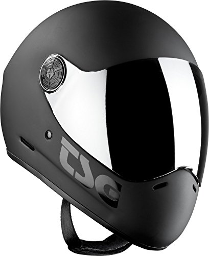 TSG Pass Black Full Face Downhill Longboard Skateboard Helmet Size Medium koston longboard skateboard scooter black skate helmet