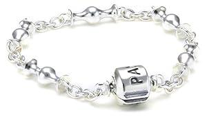 Pandora Damen-Armband Sterling Silber 'Capture' mit space für fünf Clips 591704-15