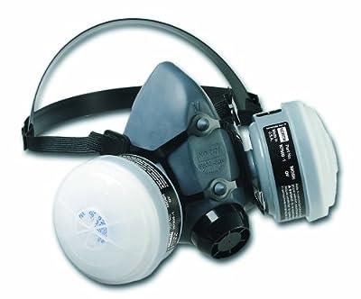 Honeywell OV/R95 Reusable Paint Spray and Pesticide Respirator Convenience Pack Medium Elastomer Half Mask Respirator, OV/R95 Cartridge/Filters