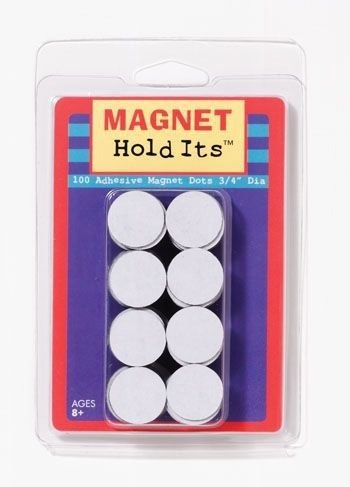 Adhesive Magnet Dots - Includes 100 Magnetic Adhesive Backed Dots - 1