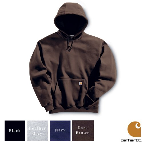 Carhartt Workwear Mens Hooded Sweatshirt Heather Grey X-Small