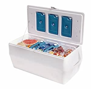 Rubbermaid Gott Marine Cooler / Ice Chest, 150-quart, White