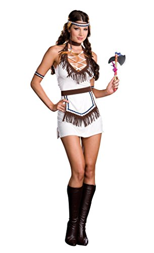 [DreamGirl Native Knockout Adult Costume White Large] (Knock Out Costumes)