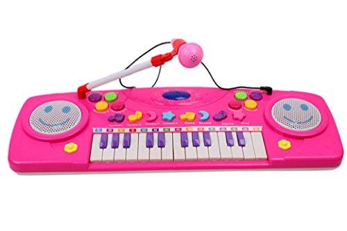 Happy-Cherry-Mini-Juguete-Infantil-de-Msica-Piano-con-Micrfono-Desmontable-Teclado-Elctrico-Electone-Regalo-para-Bebs-Nios-Nias