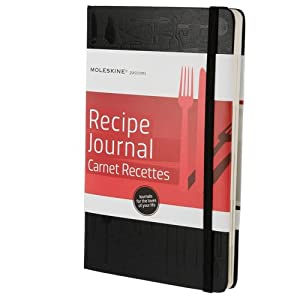 Moleskine Moleskine Passion Journal - Recipe, Large, Hard Cover - Black