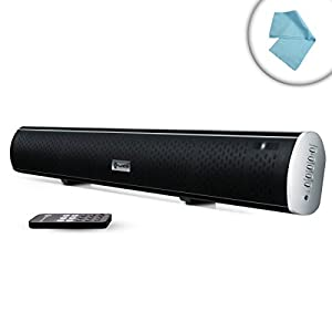 BlueSYNC SBR Bluetooth HD Sound Bar Speaker with Ultraslim Design, Optical and Analog Input and Wall Mounting Kit by GOgroove - Syncs with Tablets , Laptops , Desktops , Smartphones , MP3 Players and More