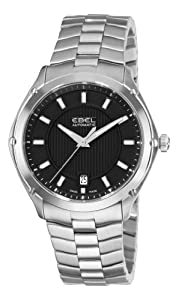 Ebel Men's 9020Q41/153450 Classic Sport Black Dial Stainless-Steel Bracelet Watch by Ebel