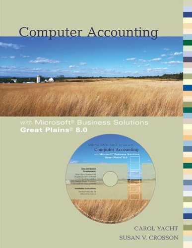 Computer Accounting with Microsoft Great Plains 8.0 w/ Software CD