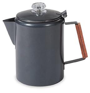 Stansport Black Granite 12 Cup Percolator Coffee Pot