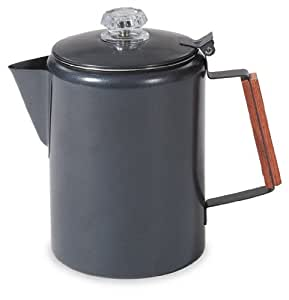 Stansport Black Granite 12 Cup Percolator Coffee Pot