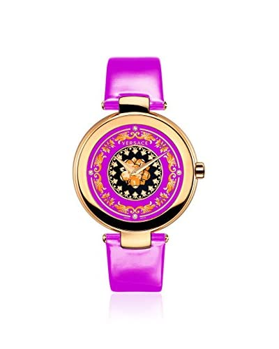 Versace Women's VK6030013 Mystique Foulard Rose Gold Plated Pink Leather Watch
