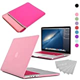 LOVE MY CASE / BUNDLE PINK Hard Shell Case with matching KEYBOARD Skin and NEOPRENE Sleeve Cover for 13-inch Apple MacBook AIR [Will NOT fit MacBook Pro Models]