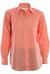 Foxcroft Wrinkle Free Solid Shirt, Classic Fit, Women's Sizes 14W-24W