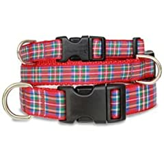 Scottish Plaid Dog Collar - Royal Stewart Tartan