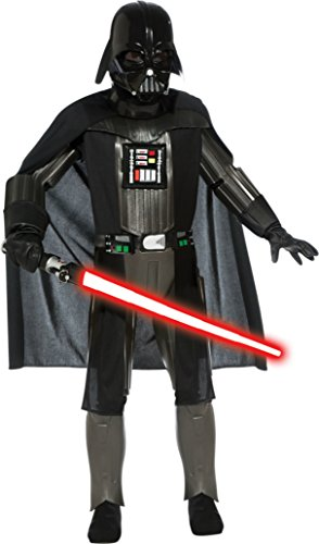 Boys Darth Vader Deluxe Kids Child Fancy Dress Party Halloween Costume