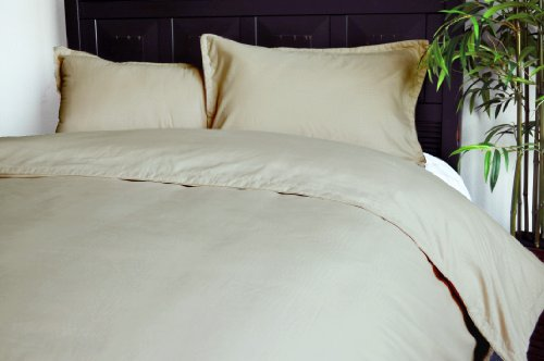 Natural Comfort Embossed Microfiber Duvet Cover And Pillow Sham Set, Brown, Twin front-1000578