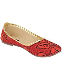 Red Forrest - Red Cotton Block Print Bellies