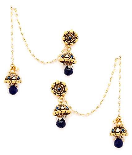 Akshim Multicolour Alloy Earrings For Women - B00NPY89Z6