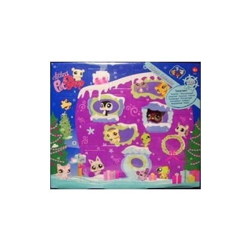 Littlest Pet Shop Figures Exclusive 2008 Advent Calendar with 3 Pets (Including Purple Penguin!) by Hasbro