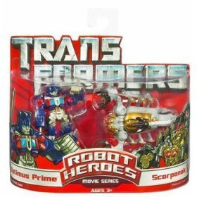 Transformers Robot Heroes Optimus Prime vs Scorponok