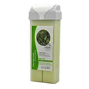 Salon Supply Store Roll On Hot Depilatory Wax Cartridge Green Tea Heater Waxing Hair Removal Salon