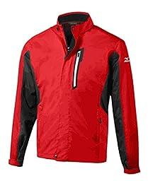 Original Men\'s Mizuno Hyper Rain Jacket, Red, X-Large
