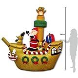 【クリスマスエアブロウ】サンタドライビングボート  / お楽しみグッズ(紙風船)付きセット [おもちゃ&ホビー]