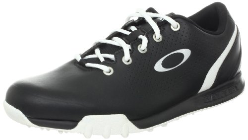 Oakley Men's Ripcord Golf Shoe,Black/White,9 M US