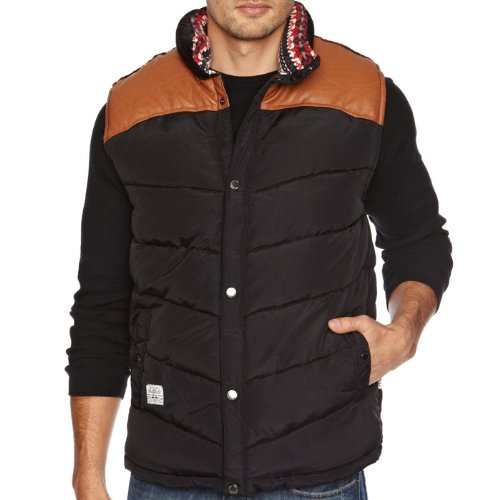Bellfield Hunter Quilted Padded Bodywarmer Gilet Jacket Mens Size XL - Black