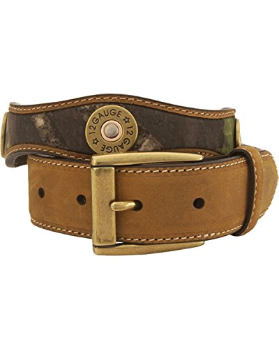 Nocona Boys' Mossy Oak 12-Gauge Leather Belt Camouflage 28 (Western Belt Boys compare prices)