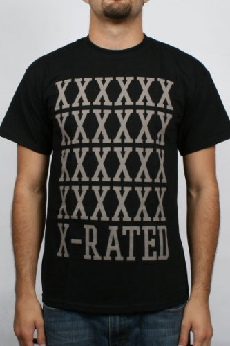 10 Deep - X Rated Mens T-Shirt in Black , Size: Large, Color: Black