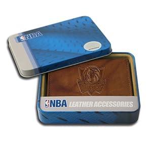 NBA Dallas Mavericks Embossed Genuine Cowhide Leather Trifold