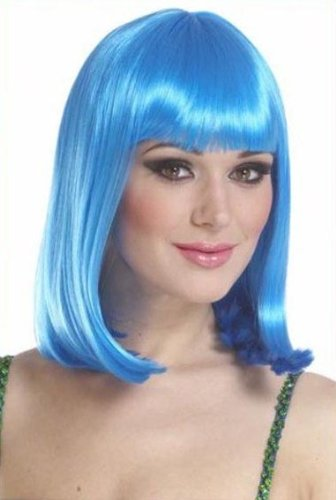 Sexy Blue Lady GaGa Fancy Dress Costume Wig