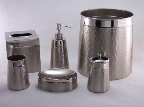 Bath Accessories Hammered 2 Tone Waste Basket