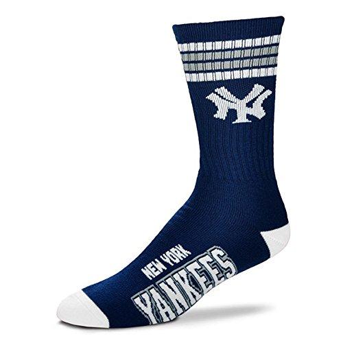 MLB 4 Stripe Deuce Socks - Men's Large (fits 10-13) (New York Yankees) (Mlb Men Jersey New York compare prices)
