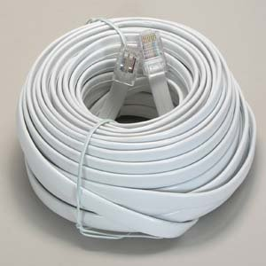 InstallerParts 50 Ft RJ45 Modular Cord Straight White