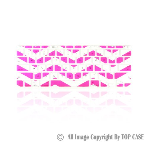 Best  TopCase White Chevron Series Zig-Zag Silicone Keyboard Cover Skin for New Macbook Air 11