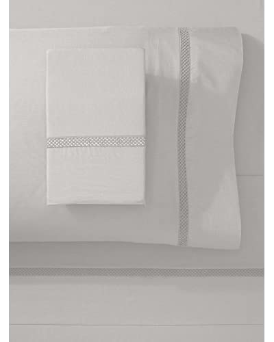Silverline Percale Lace Sheet Set