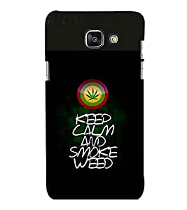 printtech Keep Calm Quotes Weed Back Case Cover for Samsung Galaxy A7 2016 Edition